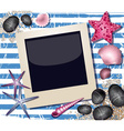 Beach Styled Polaroid Background vector image vector image