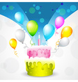 beautiful background of birthday vector image vector image