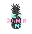 best summer day stylish poster trendy graphics vector image vector image