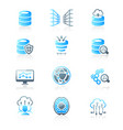 big data icons - marine series vector image