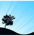 blue background with tree vector image vector image