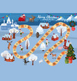 board game merry christmas and happy new year vector image