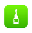 champagne icon green vector image vector image