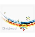Christmas and New Year business wave template vector image