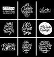 coffee trendy quotes on blackboard textured vector image vector image