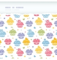 Colorful cupcake party horizontal torn seamless vector image vector image
