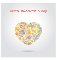 colorful heart shape on background vector image vector image