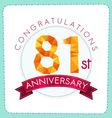 colorful polygonal anniversary logo 3 081 vector image vector image