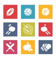 Colorful sport icons set vector image vector image
