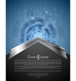 Concept tech background with metal arrow vector image vector image