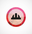 construction helmet circle pink triangle vector image vector image