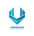 corporation concept logo template design abstract vector image