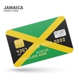 Credit card with Jamaica flag background for bank