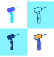 dental drill icon set in flat and line style vector image