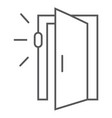 door sensor thin line icon access and security vector image