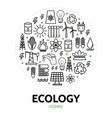 ecology round concept vector image vector image