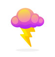 electric lightning bolt with cloud vector image