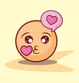 emoticon kiss love bubble online dating vector image vector image