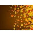 Fallen autumn leaves background EPS 8 vector image vector image