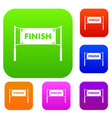 finish line gates set collection vector image vector image