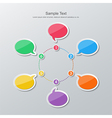 flat design timeline infographics vector image vector image