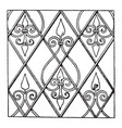 german renaissance pattern is a net design filled vector image vector image