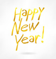 gold label happy new year vector image