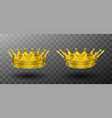 golden crowns for king or queen monarchy symbol vector image vector image