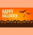 happy halloween banners flat designed elements vector image vector image