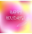 Happy Holidays logotype vector image vector image