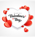 happy valentines day heart paper background vector image