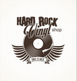 hard rock vinyl record retro background vector image