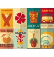 Hawaii Surf Retro Posters vector image vector image