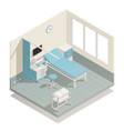 hospital medical equipment isometric composition vector image vector image