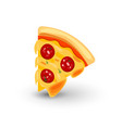 icon of pizza with sausage of vector image