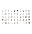 isolated travel icon set line and fill vector image vector image