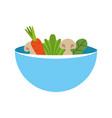 kitchen vessel with vegetables vector image