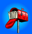 letter box comic book style vector image vector image