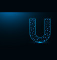 letter u low poly design alphabet abstract vector image vector image