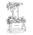 long lathe vintage vector image vector image