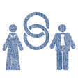 marriage persons fabric textured icon vector image
