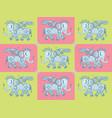 mechanical iron elephant pattern vector image vector image