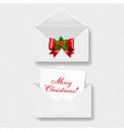 merry christmas envelope set isolated transparent vector image vector image
