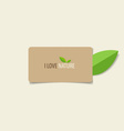 Nature banner Eco organic labels and cards vector image vector image