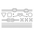 nautical rope frames and borders marine rope vector image