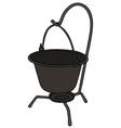 Old metal kettle vector image vector image