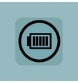 Pale blue charged battery sign vector image