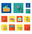party and birthday icon vector image vector image