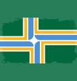 portland city flag vector image