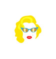 Portrait fashion woman minimalist marilyn monroe